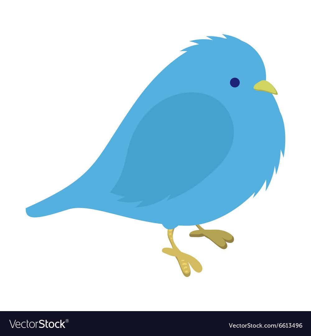Freezing blue bird vector image