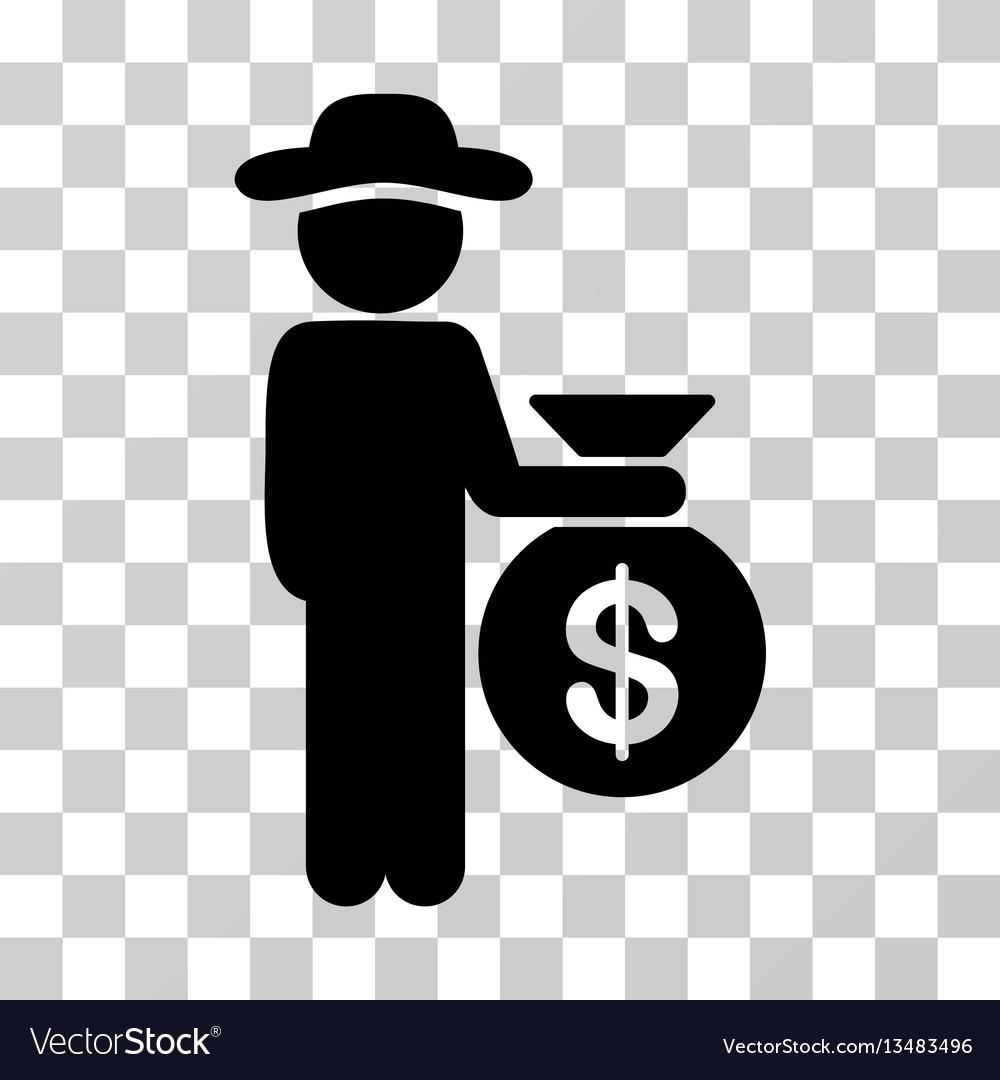 Gentleman investor icon vector image