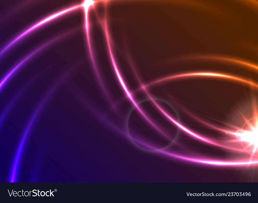 Glowing colorful neon blurred lines abstract
