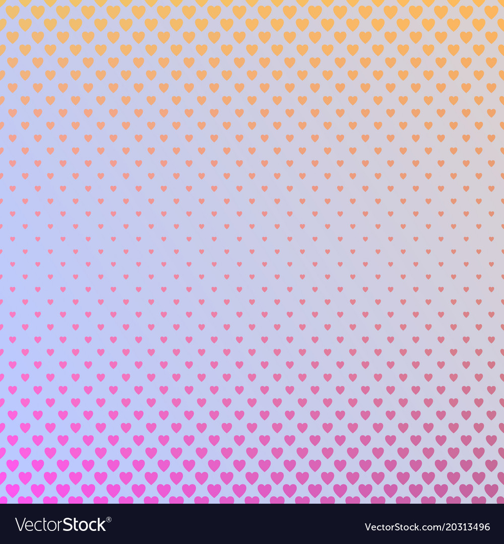 Gradient abstract heart pattern background - love