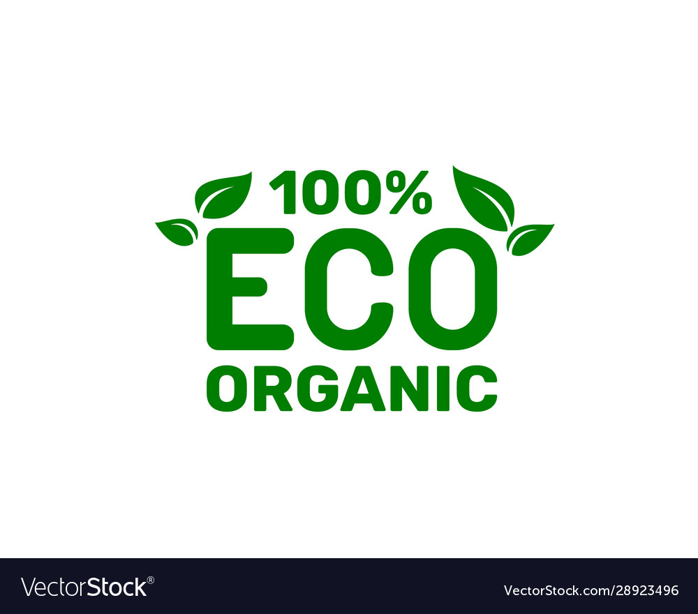 Green organic leaf a tree icon on a white