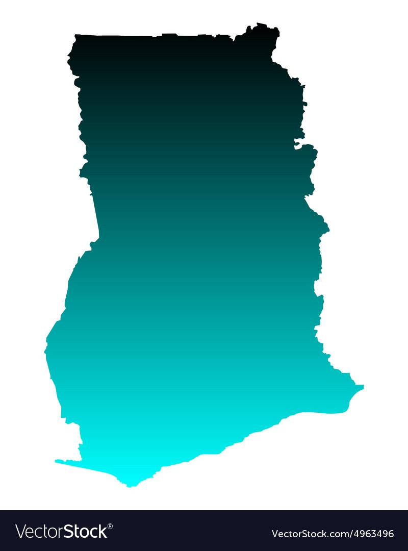 Map of Ghana Royalty Free Vector Image - VectorStock