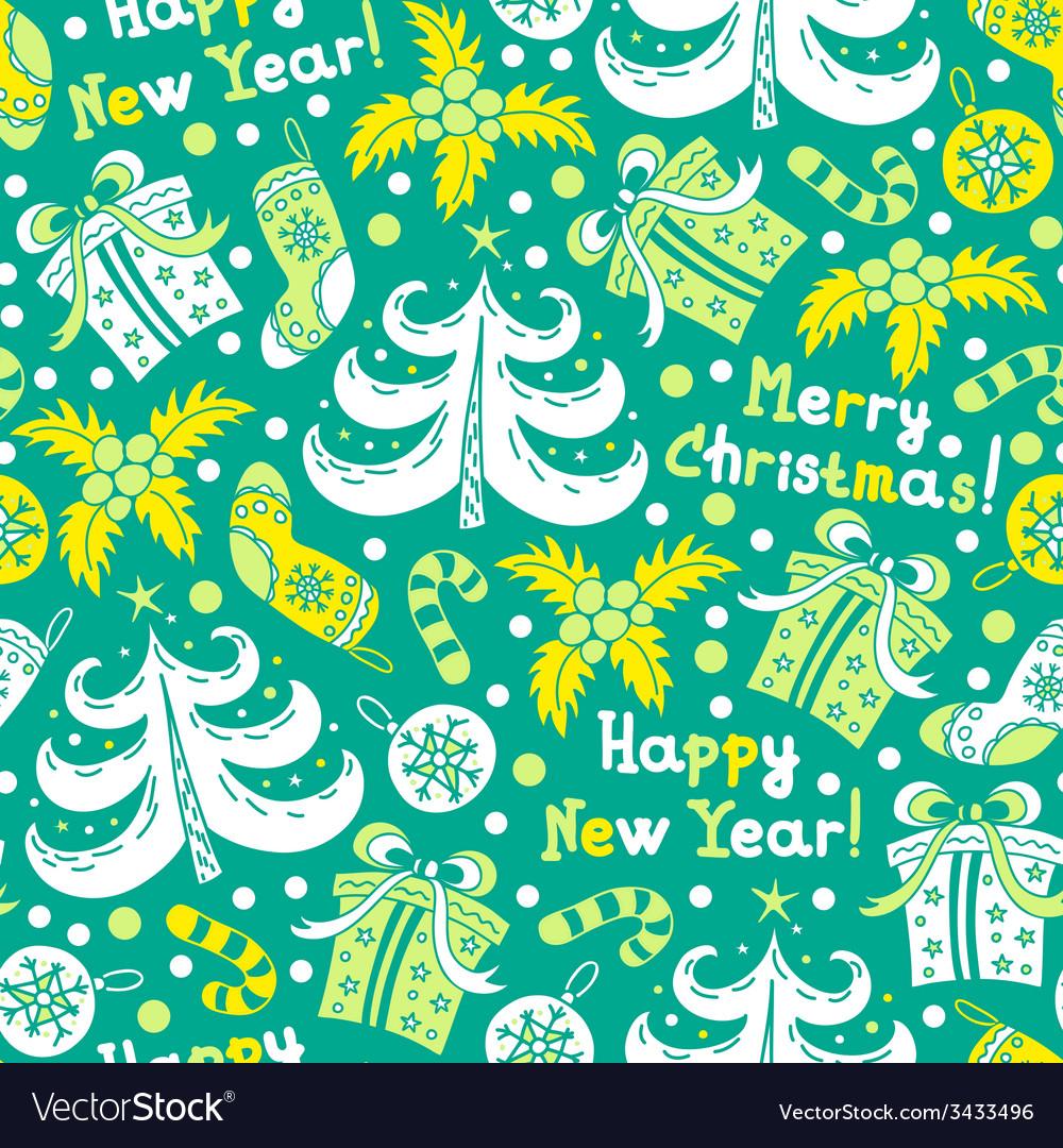 Seamless pattern Happy New Year