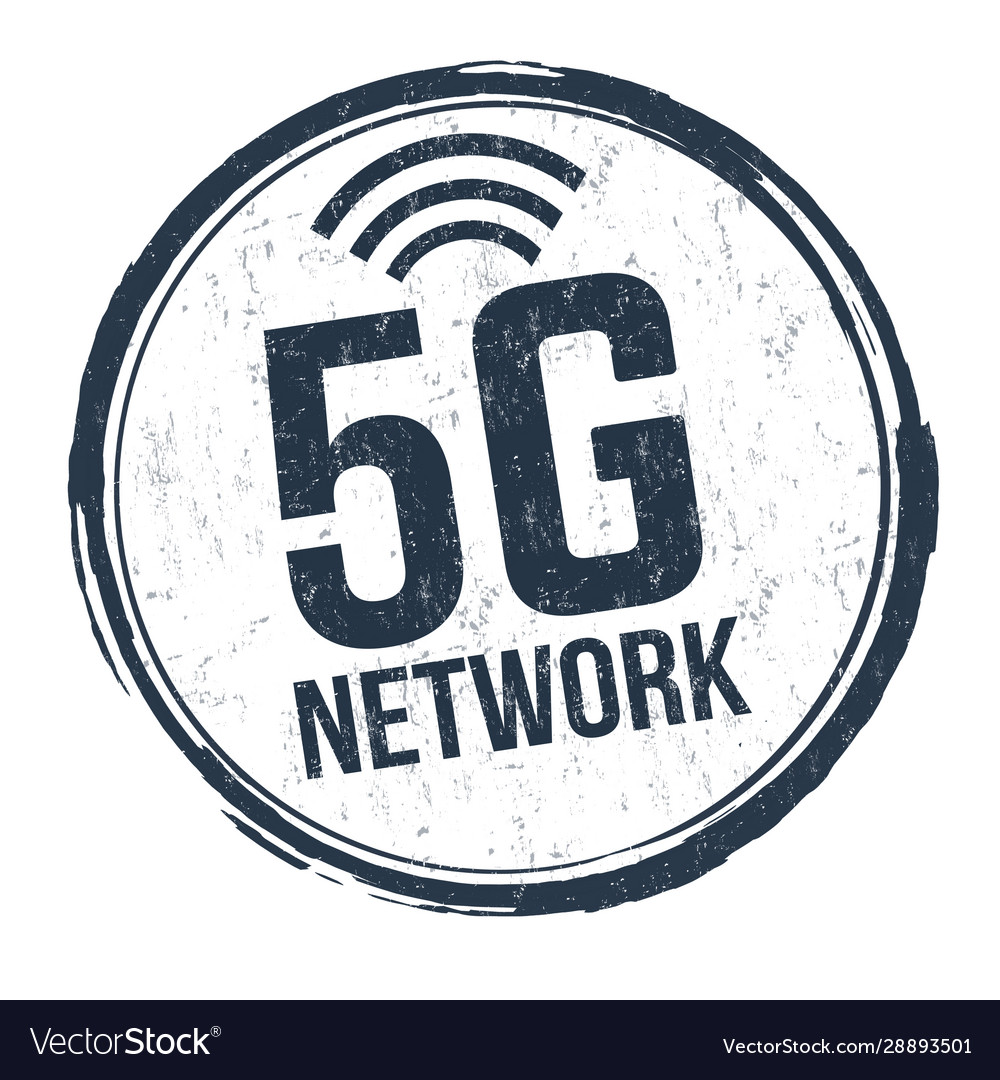 5g network sign or stamp