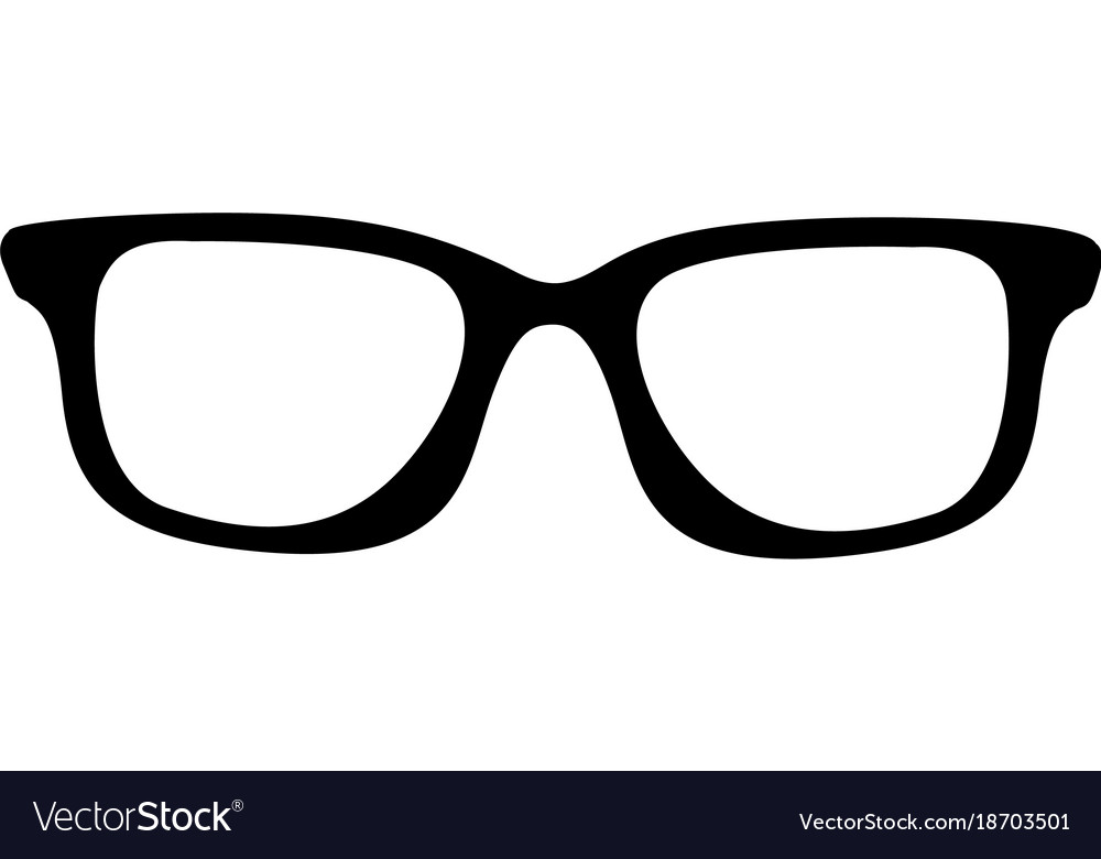 black white glasses
