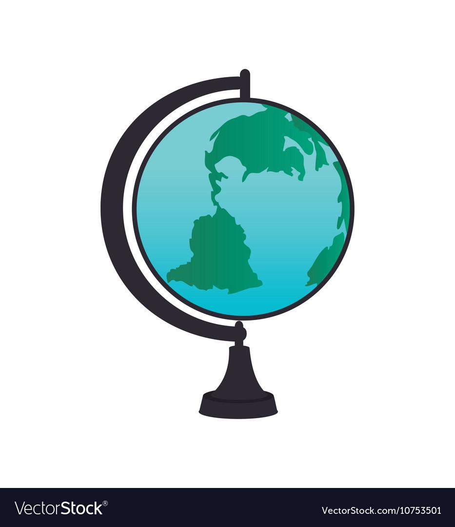 Cartoon globe school icon design