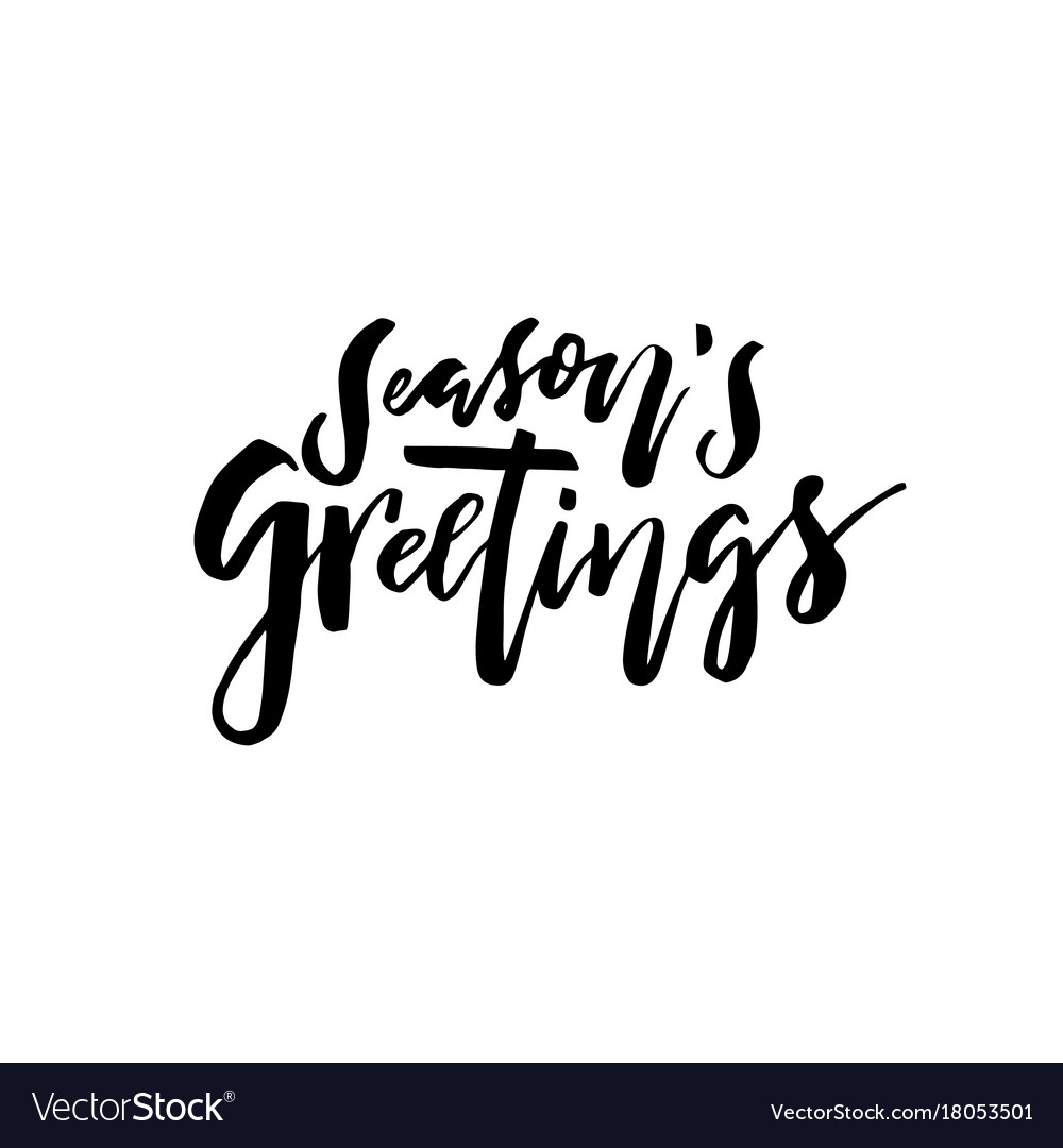 Merry christmas card calligraphy seasons greetings merry christmas card calligraphy seasons greetings vector image m4hsunfo