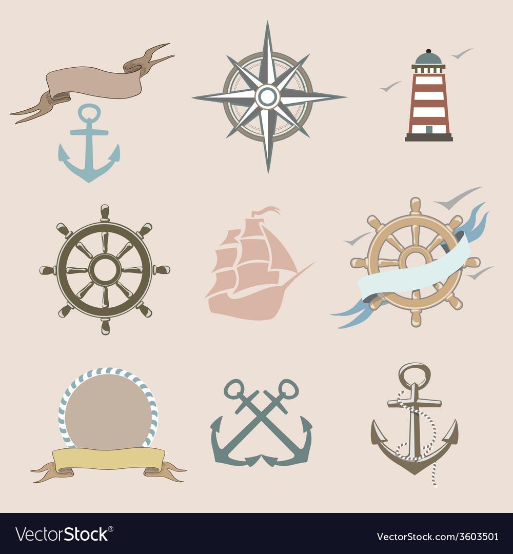 Set marine icons