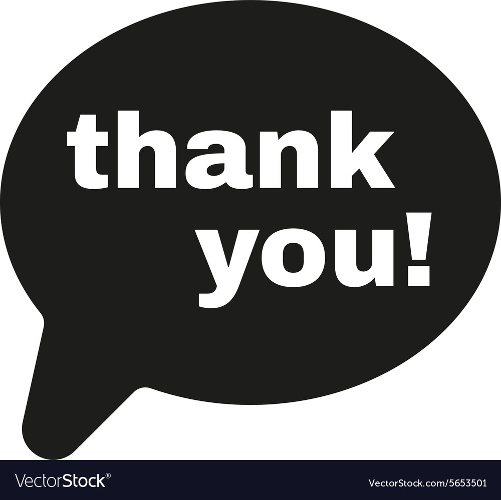 The Thank You Icon Thanks Symbol Flat Royalty Free Vector