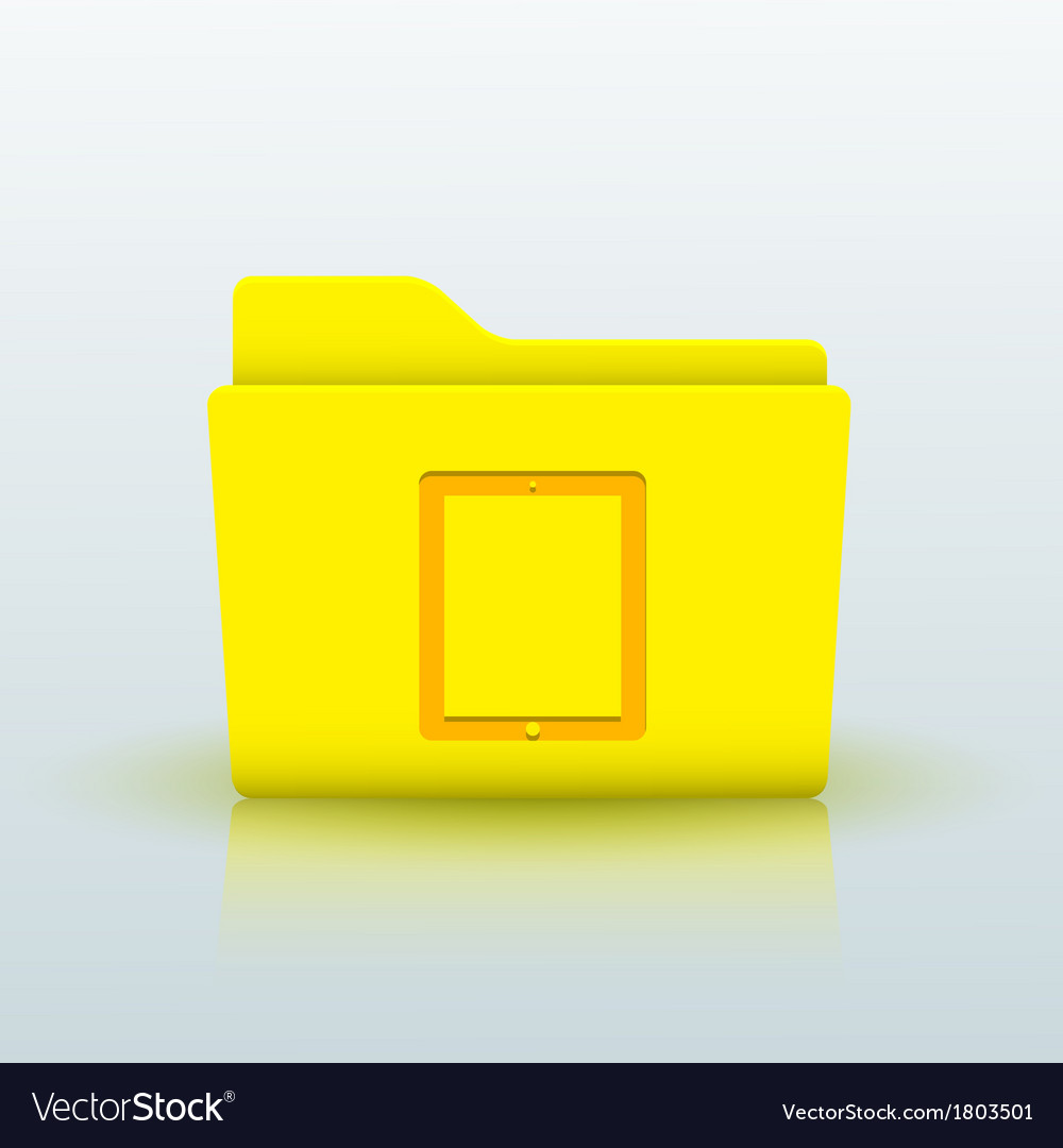 Yellow folder on blue background Eps10