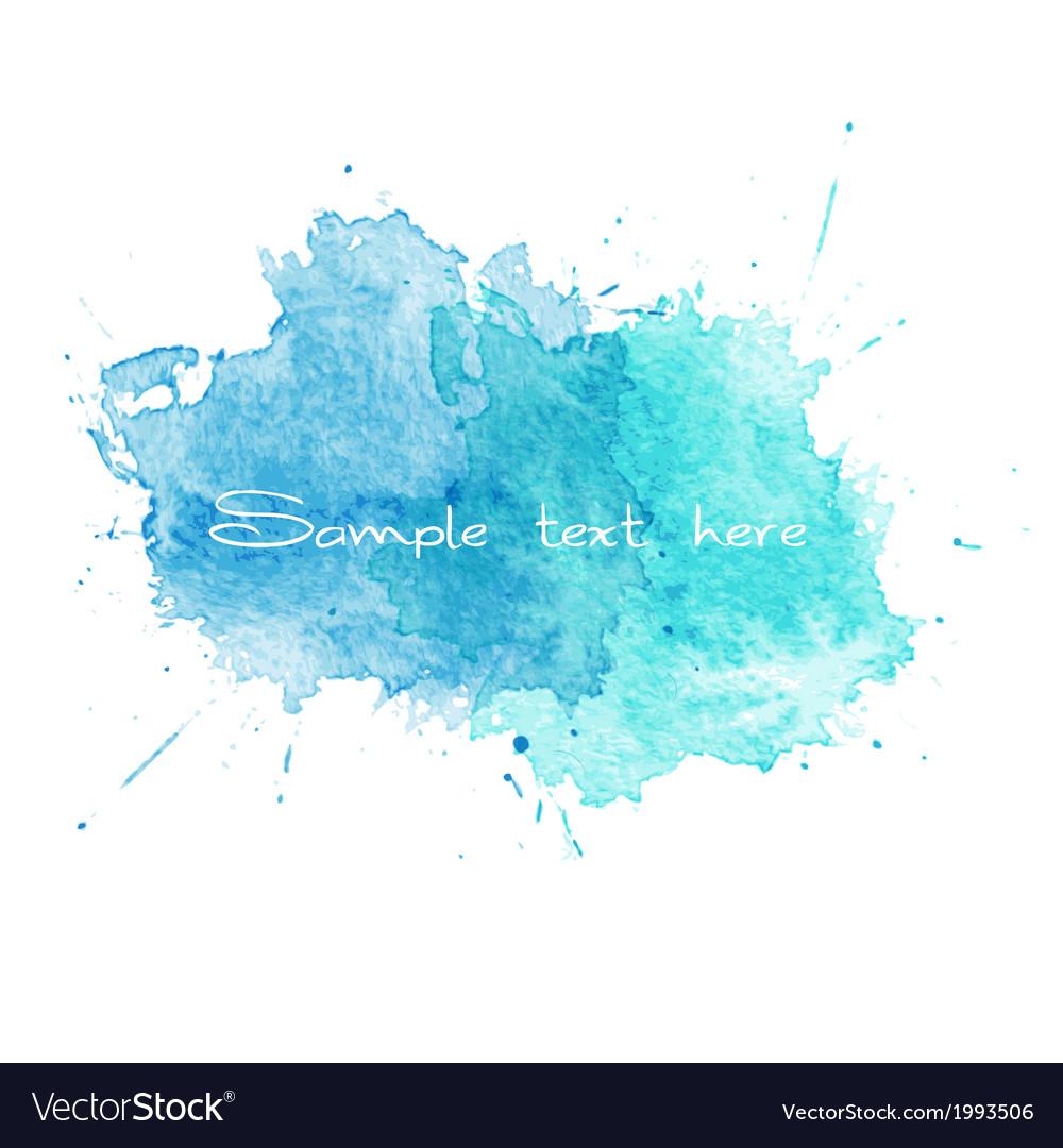 Blue Watercolor splatters