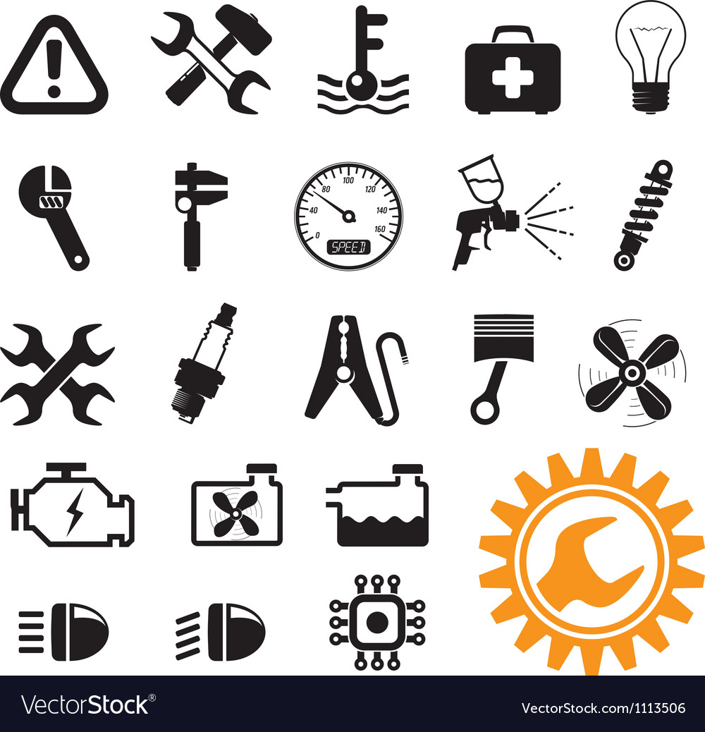 Car mechanic set vector art - Download Sign vectors - 1113506