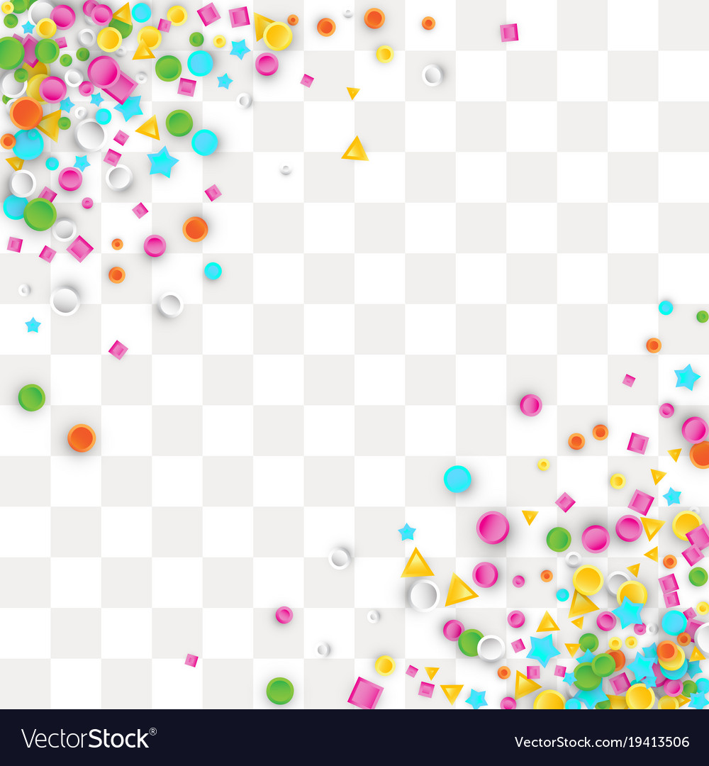 Colored Carnaval Confetti Background Royalty Free Vector