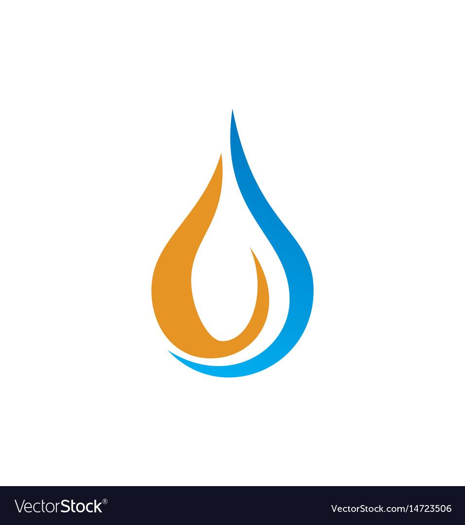 Droplet bio logo vector image