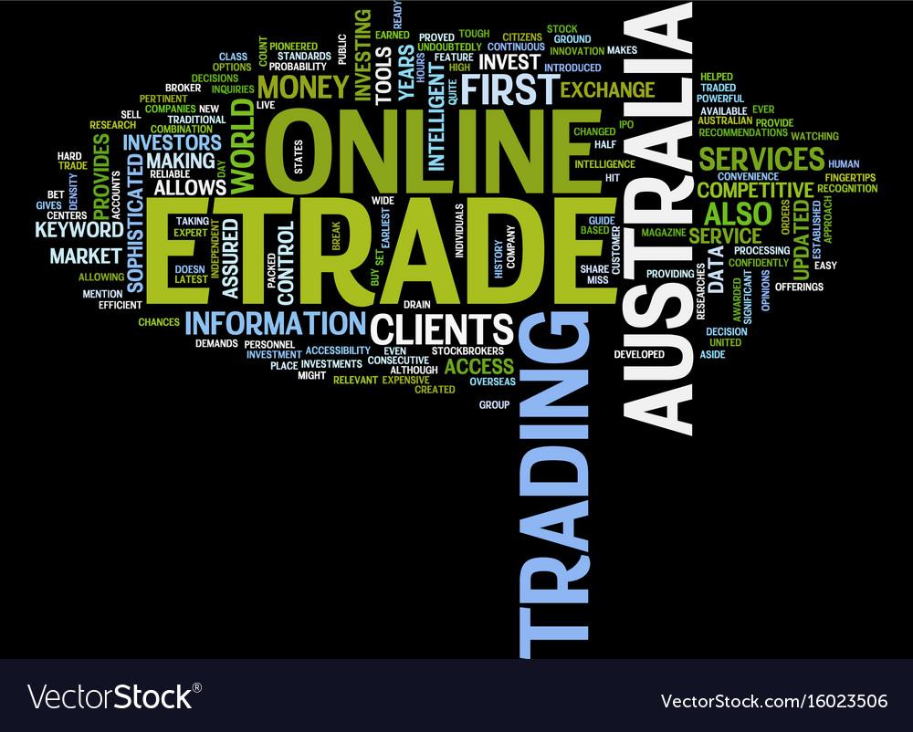 Etrade australia text background word cloud