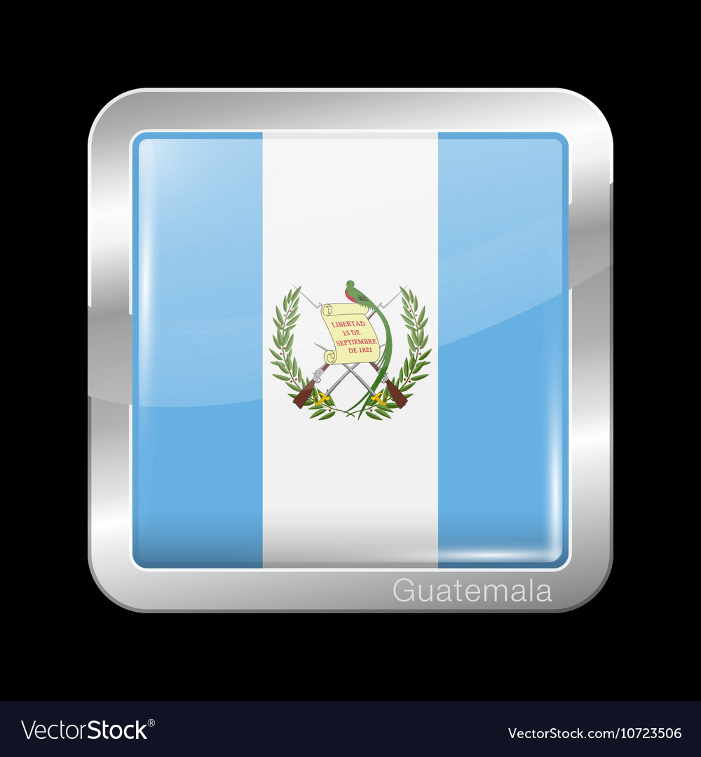 Flag of Guatemala Metal Icon Square Shape