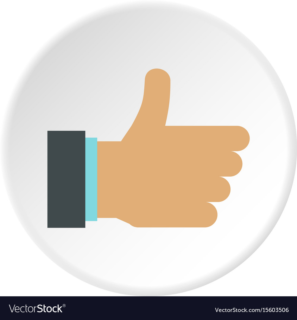 gesture approval icon circle royalty free vector image