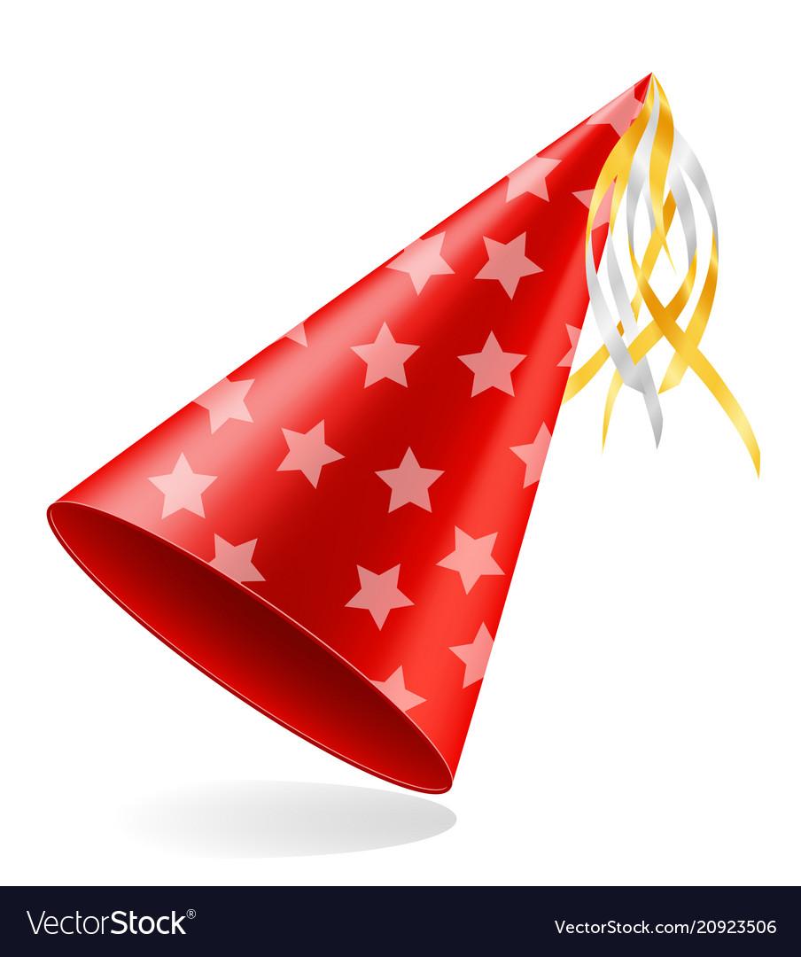 Happy Birthday Cap With Ribbon Stock Royalty Free Vector