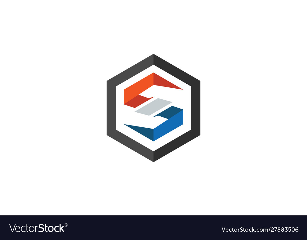 Letter s 3d logo