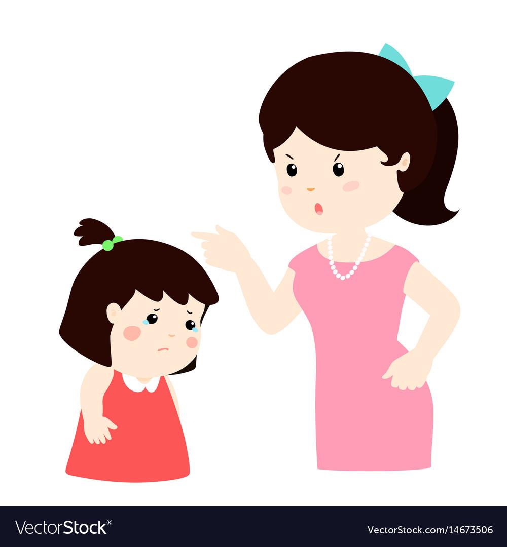 Mother daughter cartoon