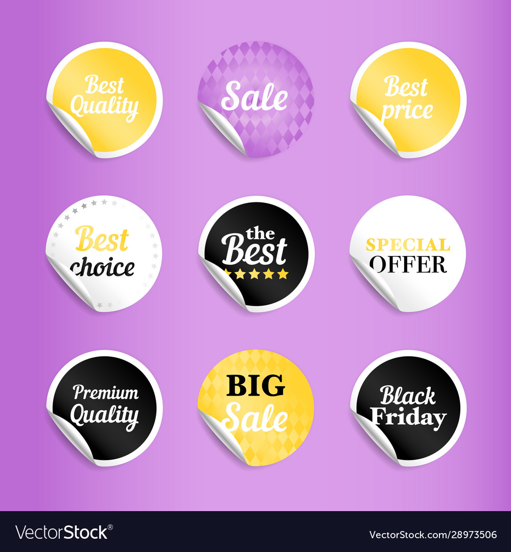 Round best offer sale stickers