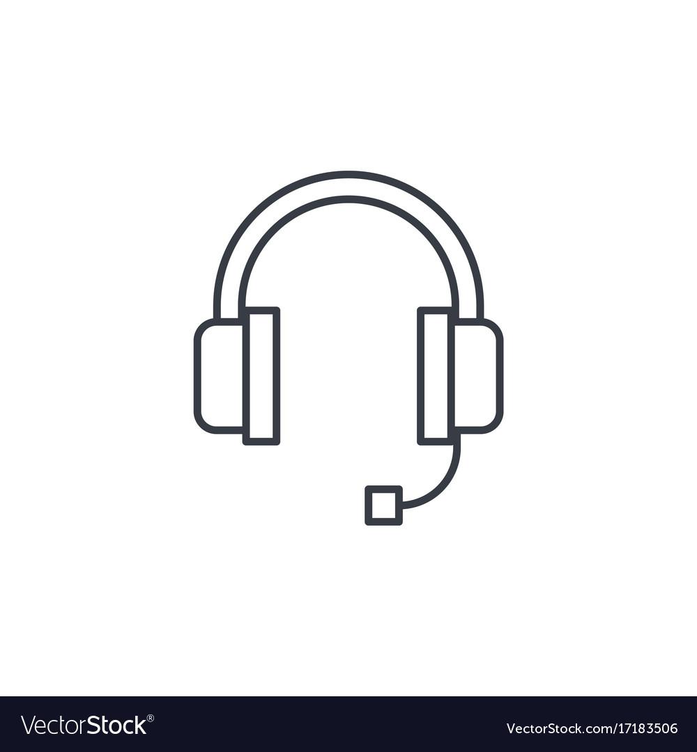Technical support headphones microphone operator vector image