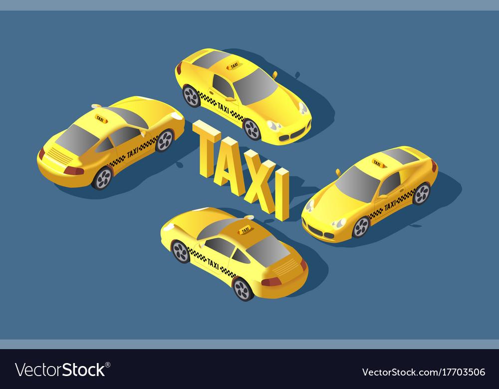 Yellow sedan car taxi transport service
