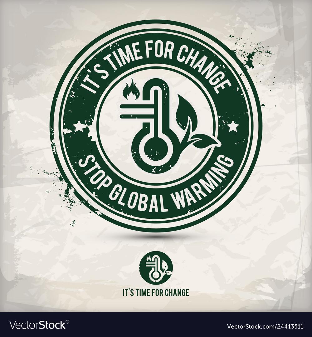 Alternative eco friendly change stamp