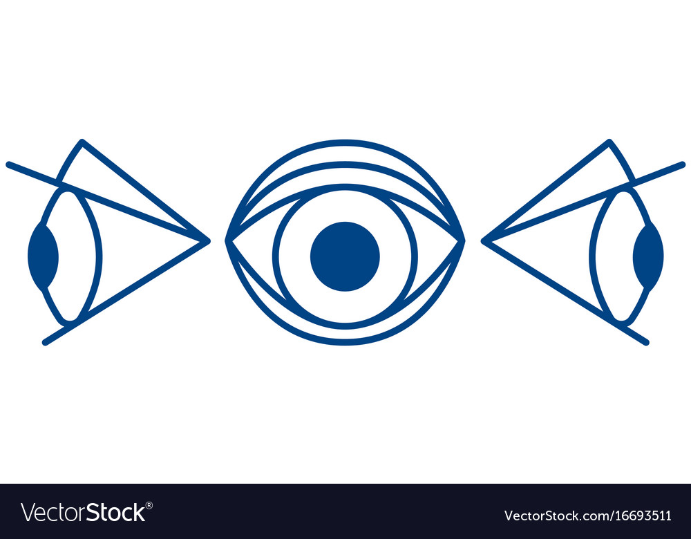 Cartoon Eye Symbol Royalty Free Vector Image Vectorstock