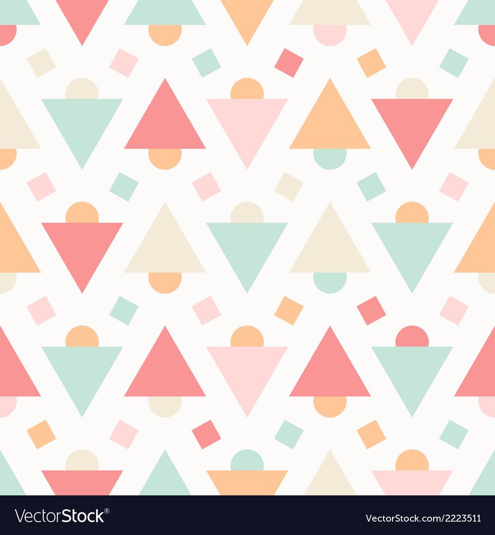 Geometric Abstract Pastel Seamless Pattern
