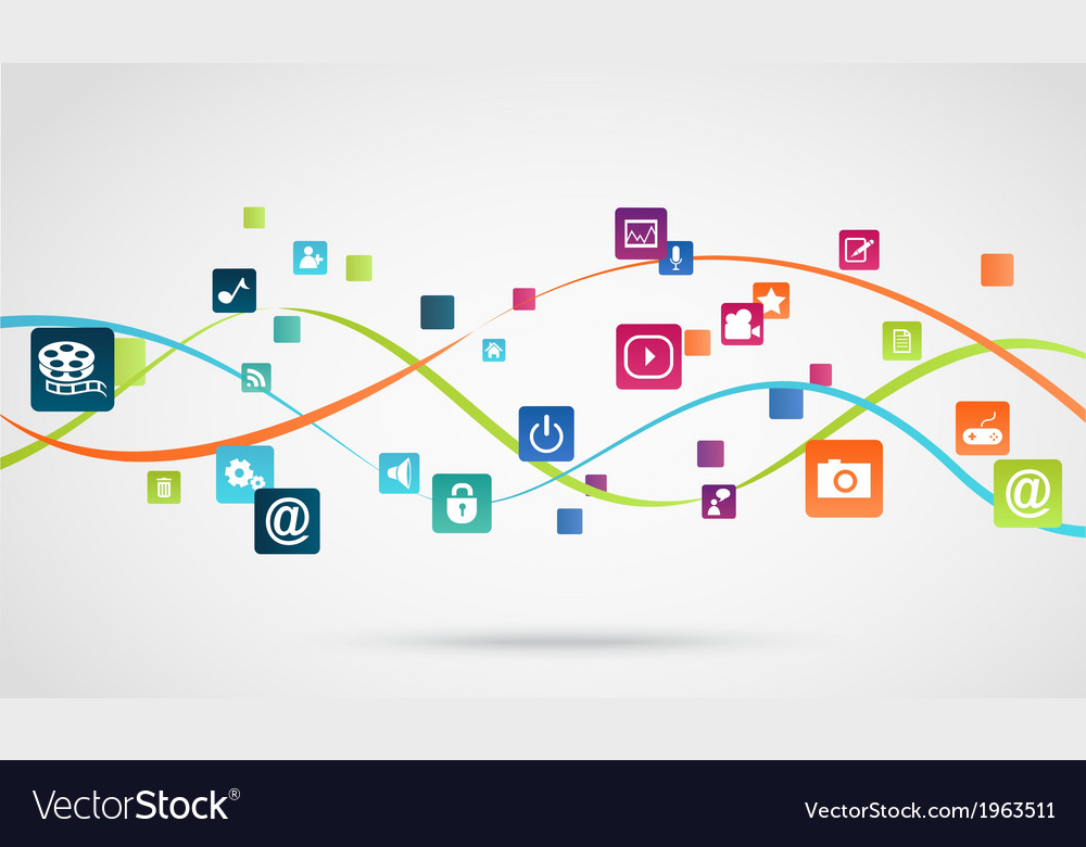 Internet application background Royalty Free Vector Image
