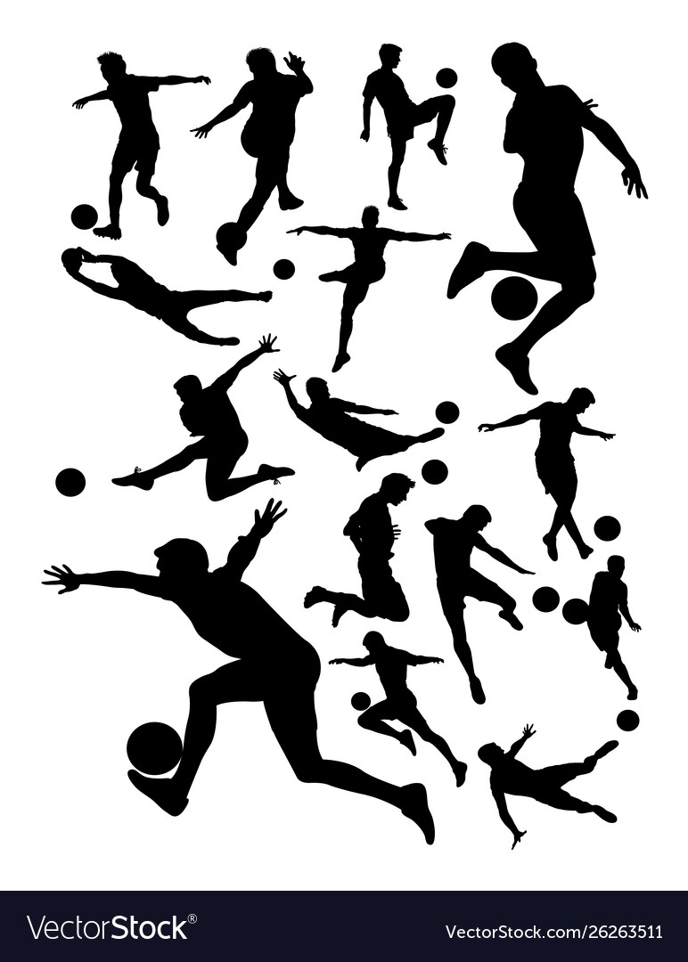 Soccer player detail silhouette