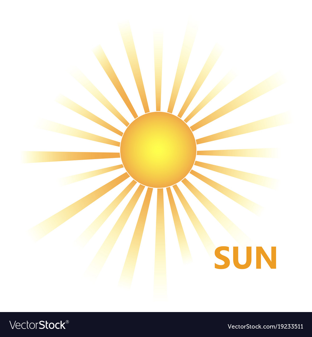 Yellow sun burst icon