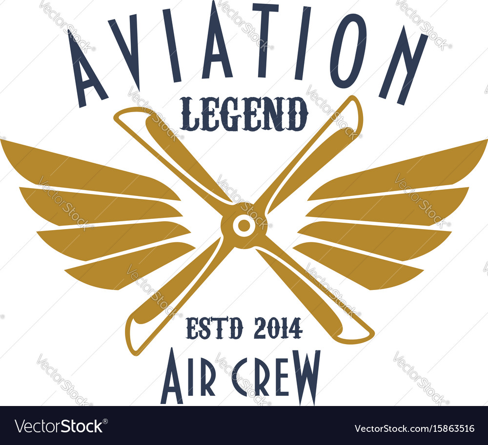 Aviation pilot legend icon of airplane