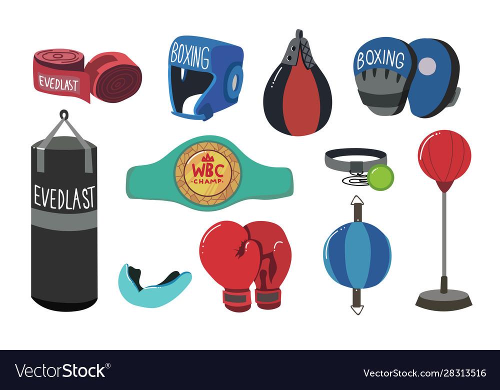 Boxing equipment tools set box accessories