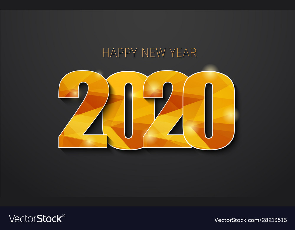 Happy new year 2020 with golden polygonal numbers