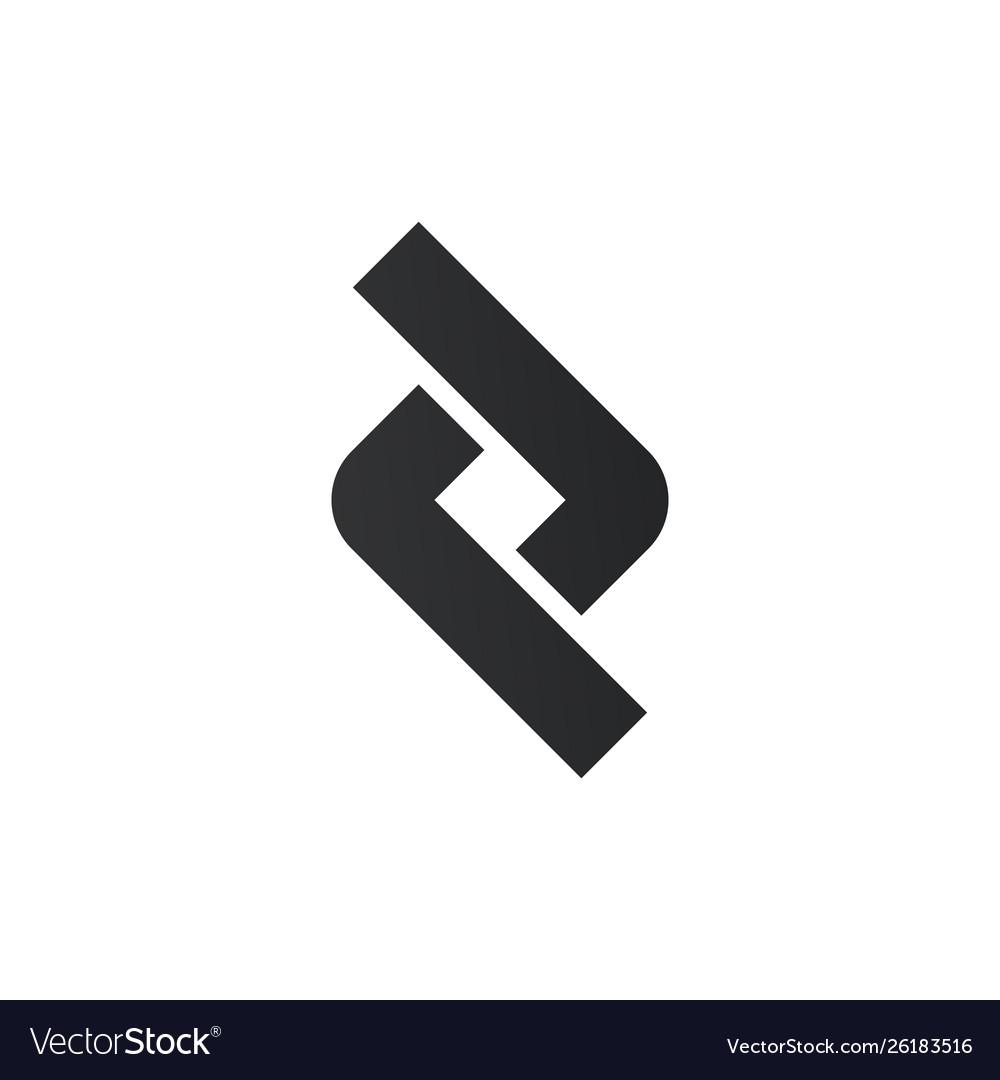 Link or connection logo design element graphic