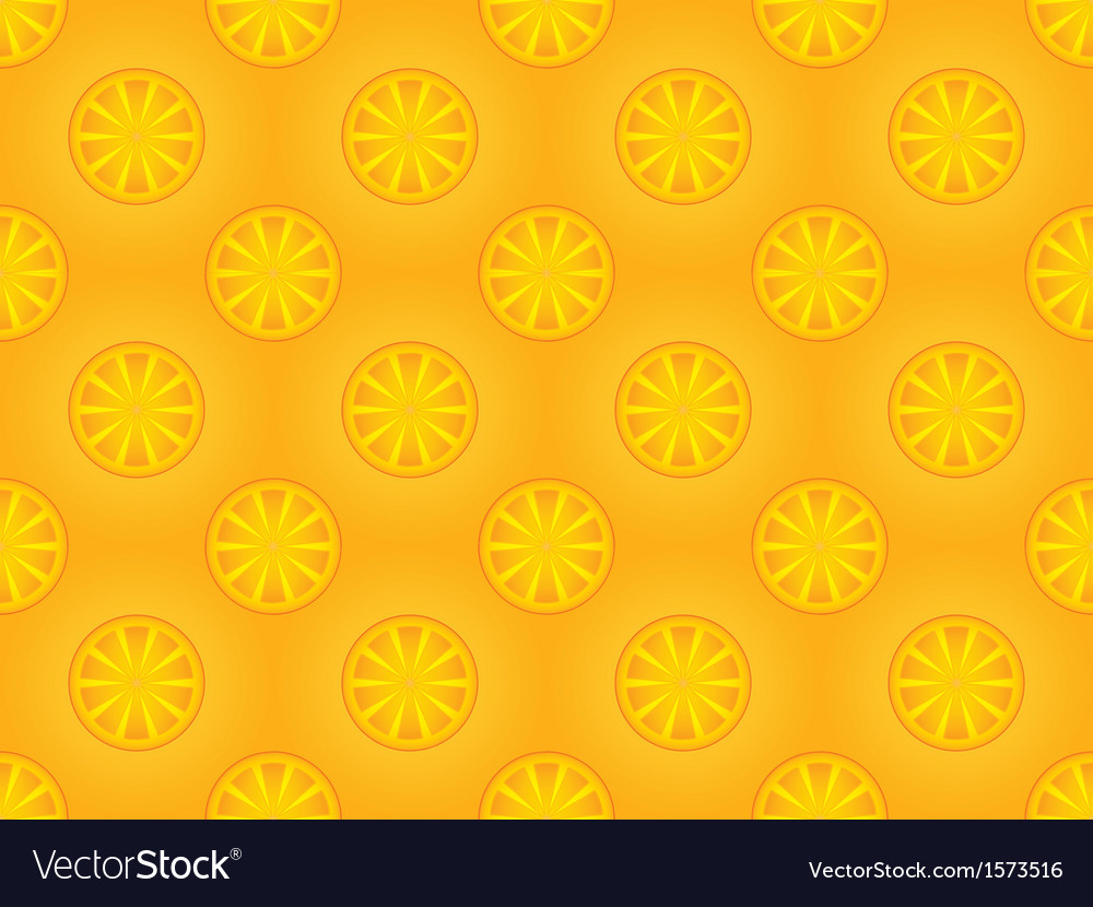 Pattern with orange slices