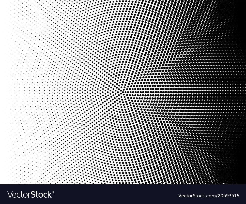 Radial halftone pattern gradient background