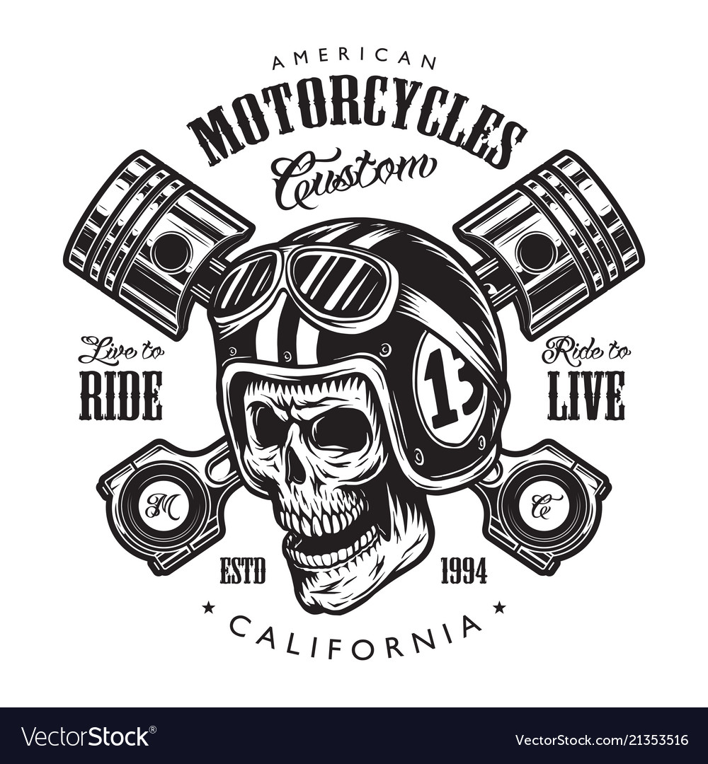 vintage motorcycle logo template royalty free vector image