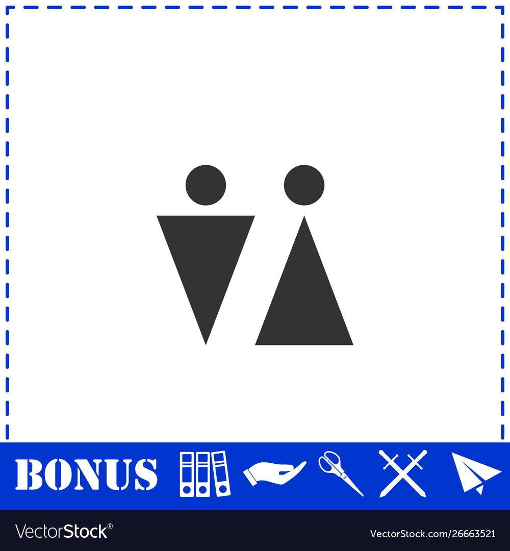 Bathroom icon flat