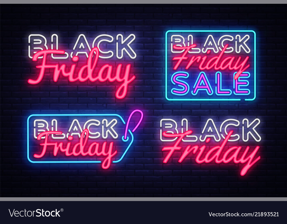Big collectin neon signs for black friday neon