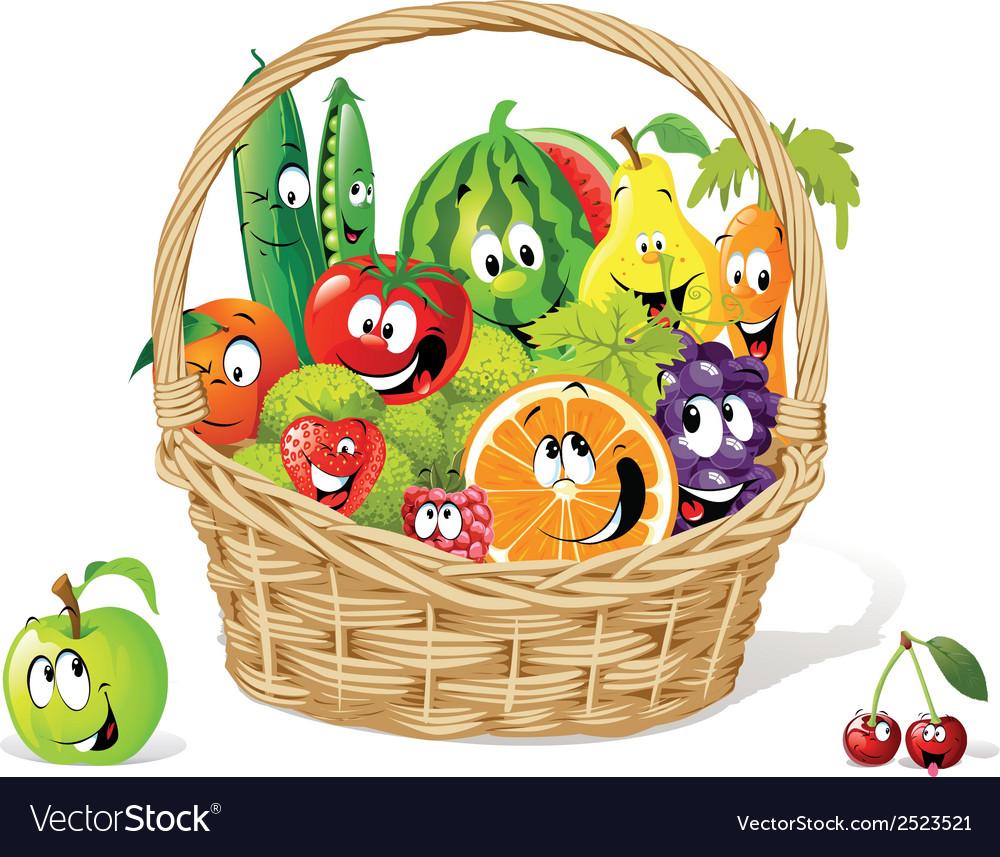 Bio basket vector image