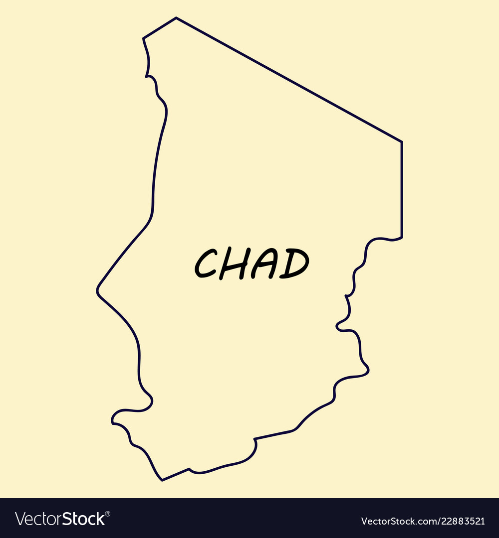 Detailed of a map of chad with flag eps10