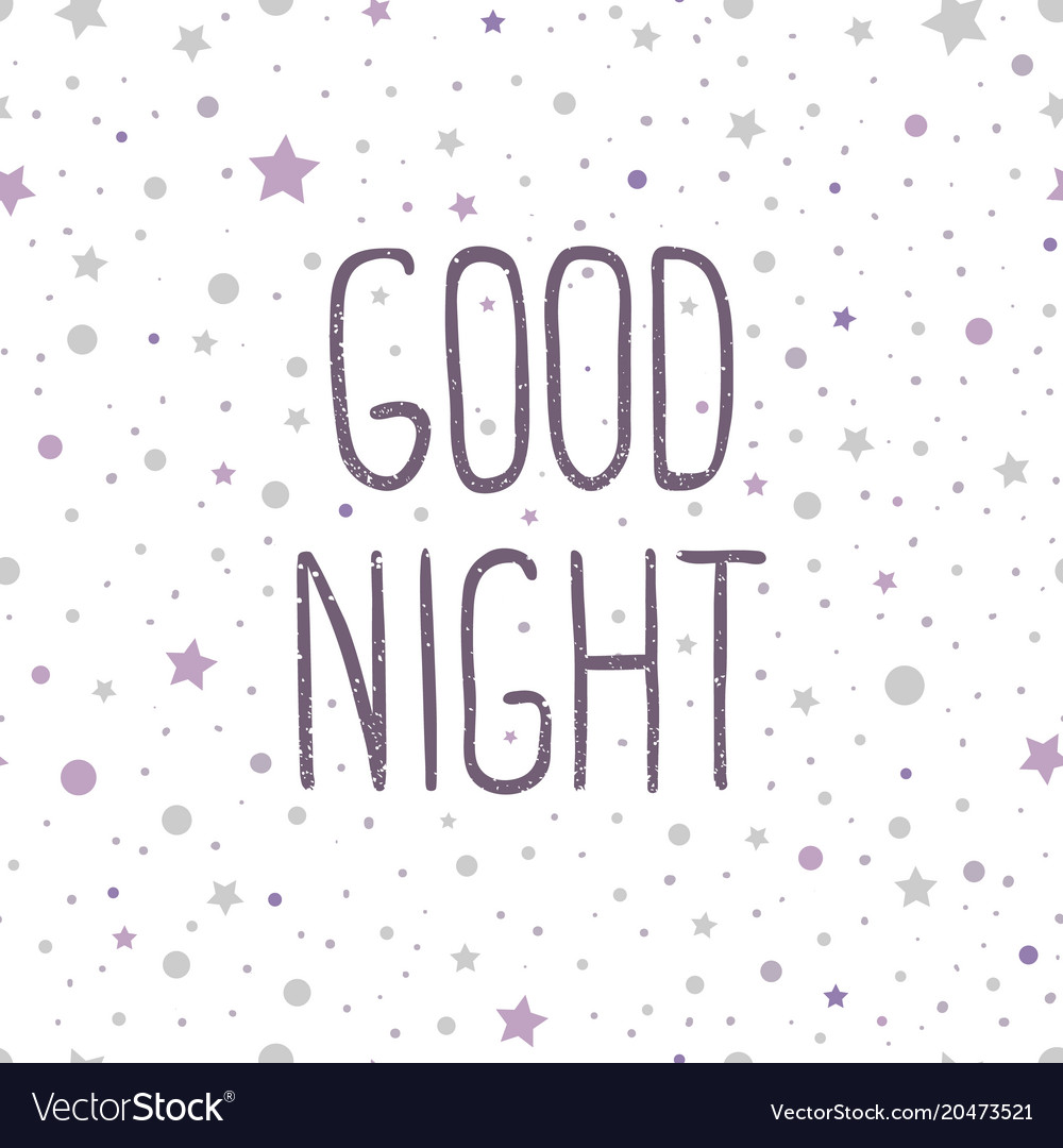 Good night hand drawn