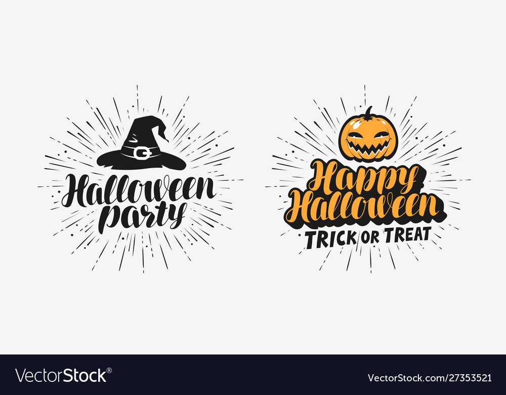 Hand drawn halloween lettering symbol holiday