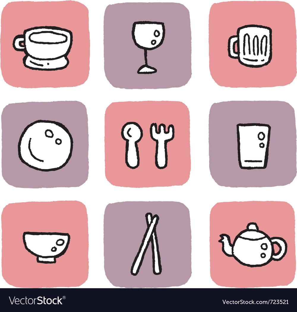 Icon-cutlery vector image