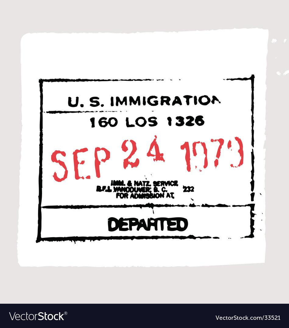 LAX departed passport stamp
