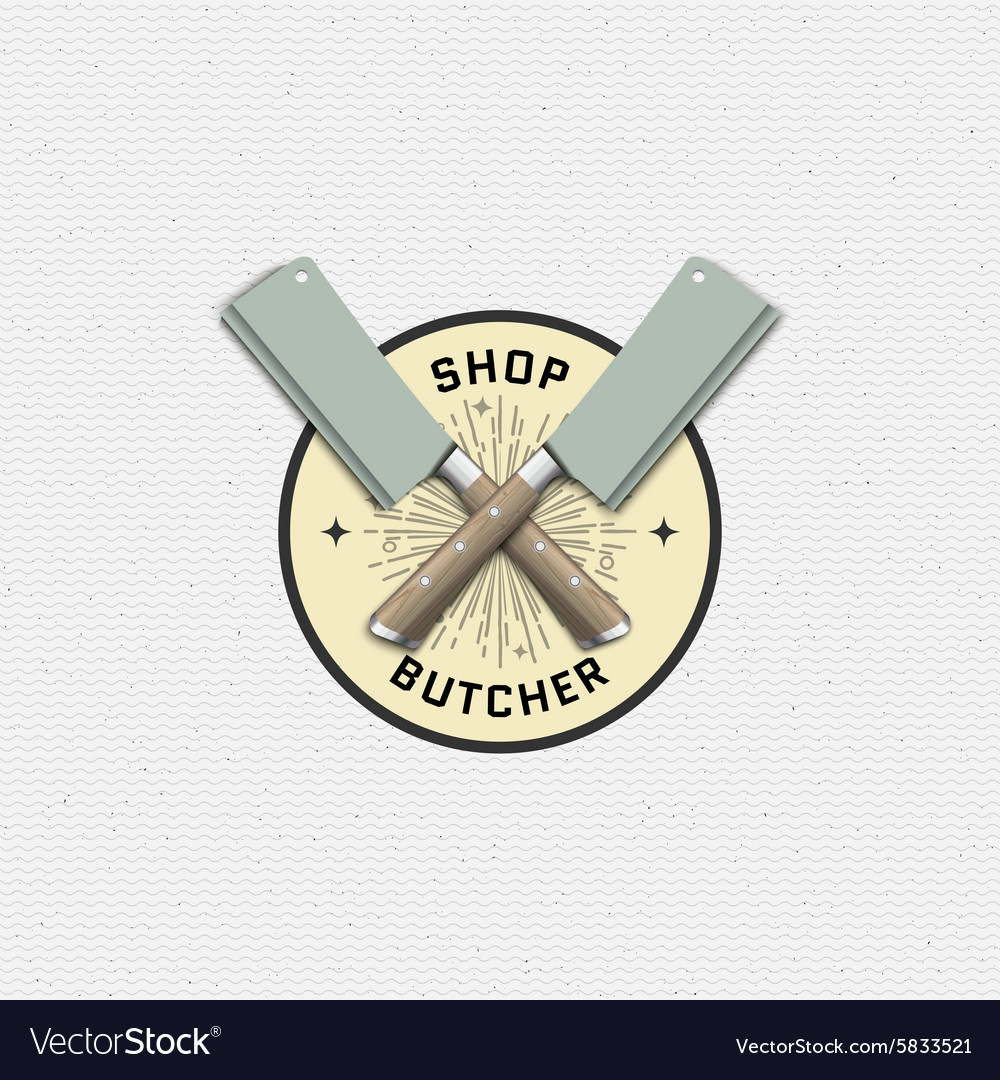 Meat store badges logos and labels for any use