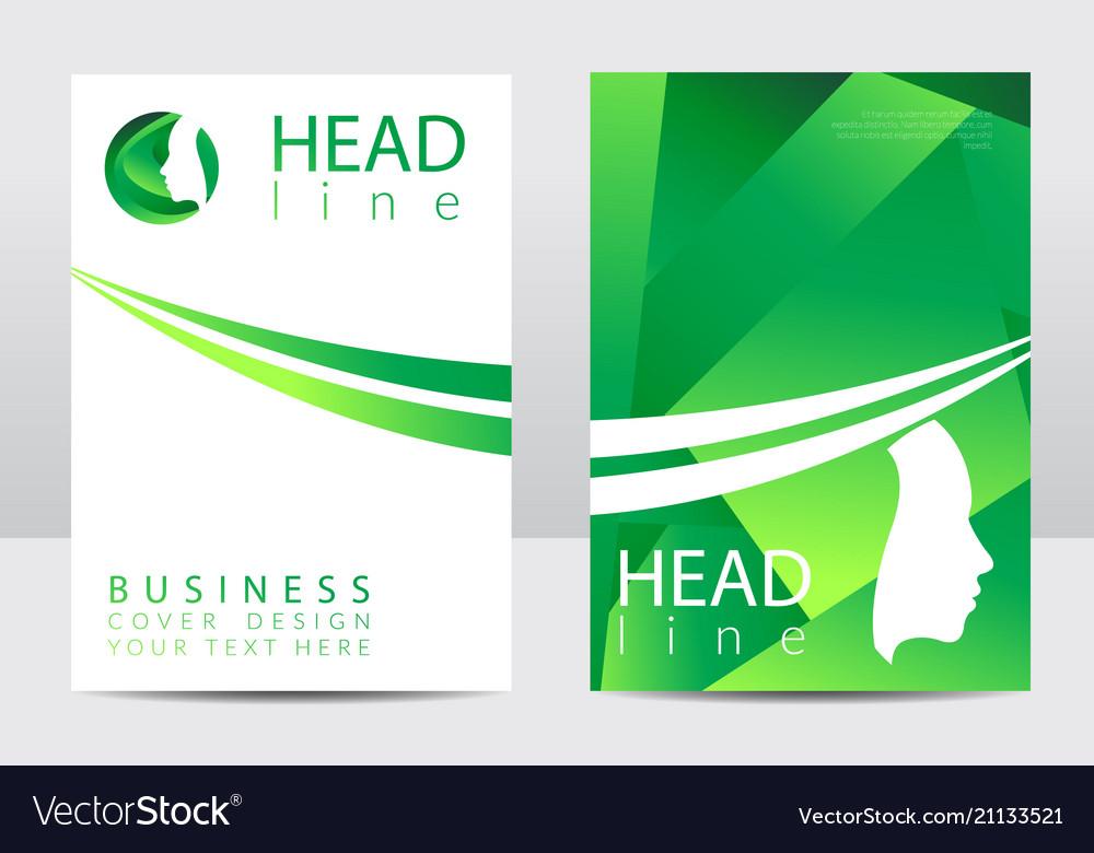 Modern cover design template profile human face
